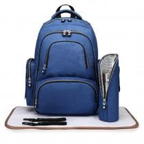 E6706-4pcs Maternity Bag Baby pañales cambiante mochila mochila azul