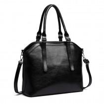 E6707-Miss Lulu Handbag Briefcase Hobo Bag Tote Bag Shoulder Bag Vintage Shoulder Bag black