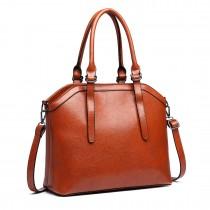 E6707-Miss Lulu Handbag Briefcase Hobo Bag Tote Bag Shoulder Bag Vintage Shoulder Bag brown