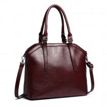 E6707-Miss Lulu Handbag Briefcase Hobo Bag Tote Bag Shoulder Bag Vintage Shoulder Bag claret