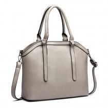 E6707-Miss Lulu Handbag Briefcase Hobo Bag Tote Bag Shoulder Bag Vintage Shoulder Bag grey