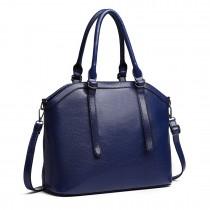 E6707-Miss Lulu Handbag Briefcase Hobo Bag Tote Bag Shoulder Bag Vintage Shoulder Bag navy