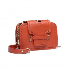E6711 OE - Satchel Orange - Bracelet en cuir avec petites bretelles