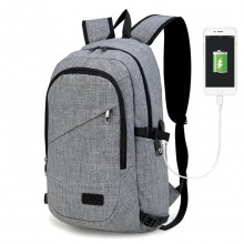 E6715 - Kono Business Laptop Backpack with USB Charging Port - Grey