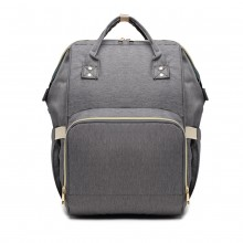 E6814 - MISS LULU MULTI FUNCTION BABY DIAPER CHANGING BACKPACK - GREY