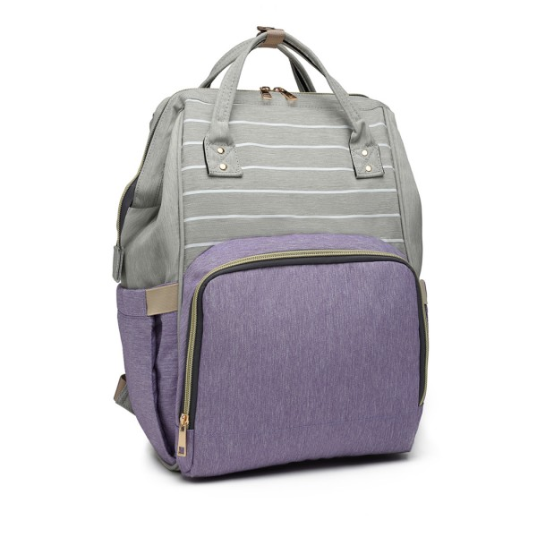 E6814 - MISS LULU MULTI FUNCTION BABY DIAPER CHANGING BACKPACK - PURPLE