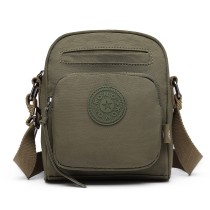 E6823-KONO Lightweight  Casual Travel Bag Multi Pocket Cross Body  GREEN
