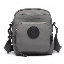 E6823-KONO Lightweight Casual Travel Bag Multi Pocket Cross Body  GREY