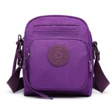 E6823-KONO Lightweight Casual Travel Bag Multi Pocket Cross Body  PURPLE