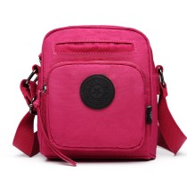 E6823-KONO Lightweight Casual Travel Bag Multi Pocket Cross Body  PLUM
