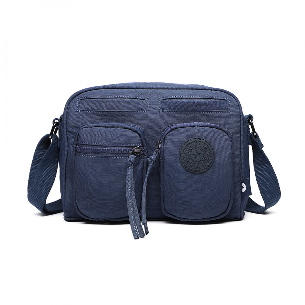 Bandoulière E6824 Poche Kono Bleu Avant Pocket Sac Deux Polyester E2eYbI9WDH