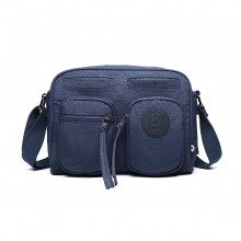 E6824-KONO Casual Multi Pocket Lightweight Cross Body Messenger Bag BLUE