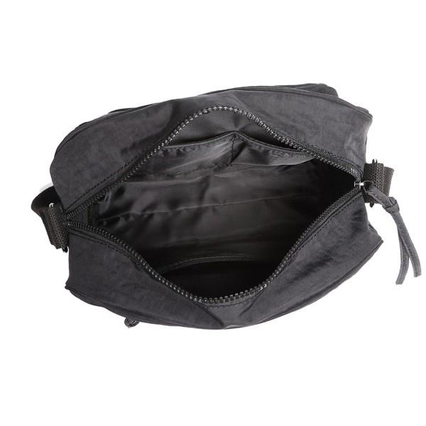E6824-KONO Casual Multi Pocket Lightweight Cross Body Messenger Bag BLACK