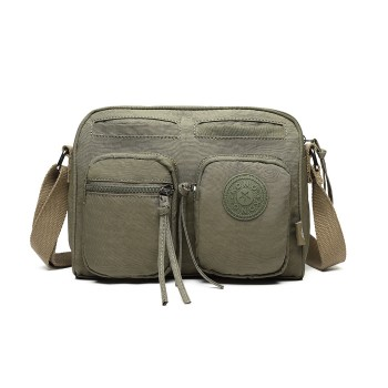 E6824-KONO Casual Multi Pocket Lightweight Cross Body Messenger Bag GREEN