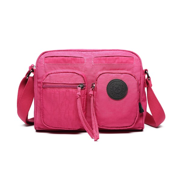 E6824-KONO Casual Multi Pocket Lightweight Cross Body Messenger Bag PLUM
