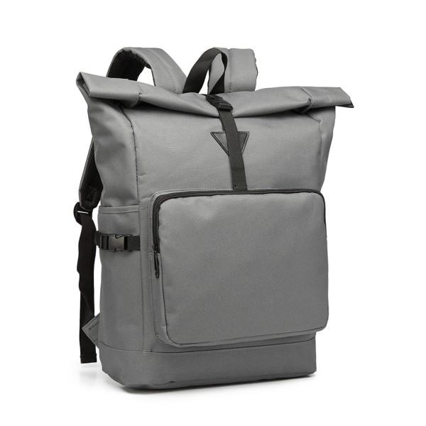 E6839-MISS LULU OXFORD CLOTH SINGLE COLOR PREPPY BACKPACK SCHOOL BAG GREY