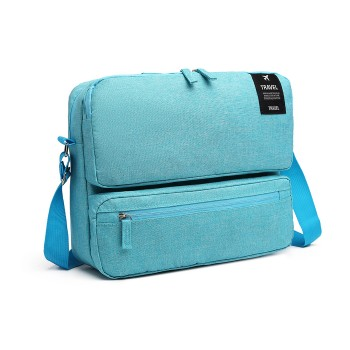 E6851-MISS LULU STYLISH POLYESTER PORTABLE TRAVEL BAG SHOULDER BAG BLUE