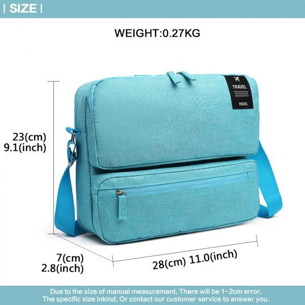 E6851 - Kono Multi Compartment Travel Shoulder Bag - Blue