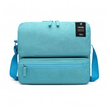 E6851 - Kono Multi Compartment Travel Shoulder Bag - Blue