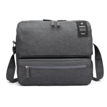 E6851-MISS LULU STYLISH POLYESTER PORTABLE TRAVEL BAG SHOULDER BAG GREY