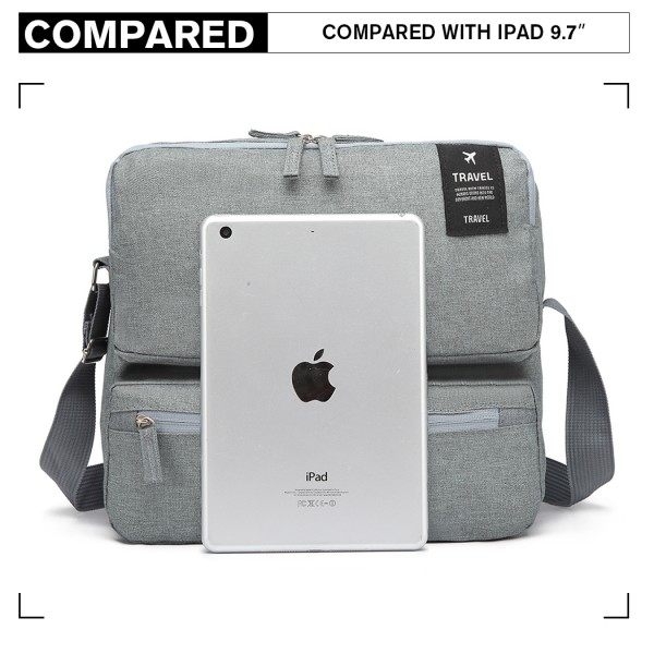 E6851 - Kono Multi Compartment Travel Shoulder Bag - Light Grey