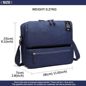 E6851-MISS LULU STYLISH POLYESTER PORTABLE TRAVEL BAG SHOULDER BAG NAVY