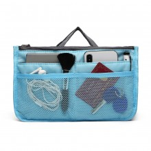 E6876 - Miss Lulu Folding Nylon Handbag Organiser - Blue