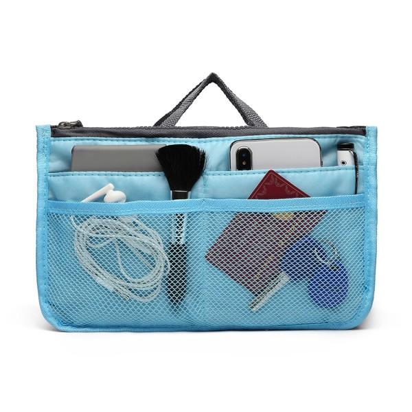 E6876 - Miss Lulu Folding Nylon Handbag Organiser - Blue