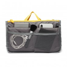 E6876 - Miss Lulu Folding Nylon Handbag Organiser - Grey