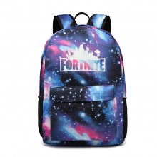 E6890- GALAXY DESIGN POLYESTER BACKPACK SCHOOL BAG BLUE