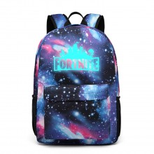 E6890 - Kono Galaxy Print Game Logo School Backpack - Blue