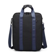 E6892-NYLON HANDBAG SHOULDER BAG PORTABLE TRAVEL BAG BLACK