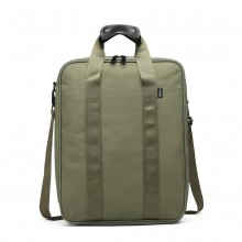 E6892-COTTON HANDBAG SHOULDER BAG PORTABLE TRAVEL BAG GREEN