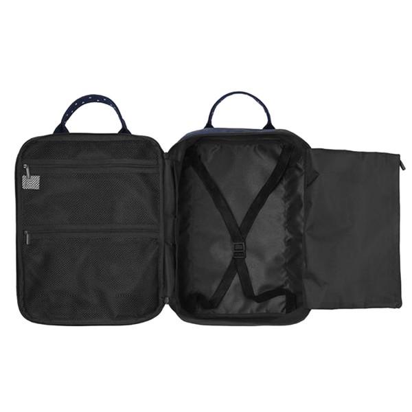 E6892 - Kono Cotton Travel Shoulder Bag Hand Luggage - Navy