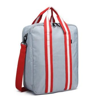E6892-COTTON HANDBAG SHOULDER BAG PORTABLE TRAVEL BAG SILVER