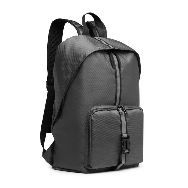 E6906 - Kono Lightweight Water Resistant Foldable Backpack - Grey