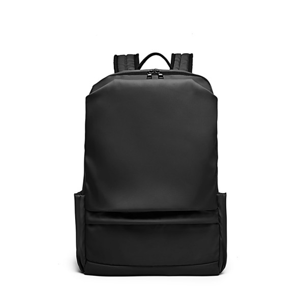 E6913 - Kono Water Resistant Travel Backpack with USB Charging Port - Black