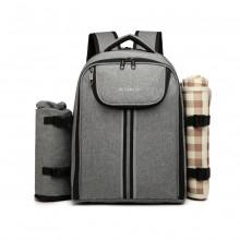 E6915 - Kono Canvas Picknick Rucksack - Grau