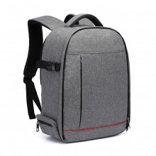 E6928 - Kono Water Resistant Shockproof DSLR Camera Backpack - Grey
