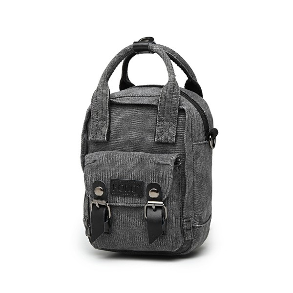 E6929 - Kono Mini Multi-Way Cross Body Bag/Backpack - Black