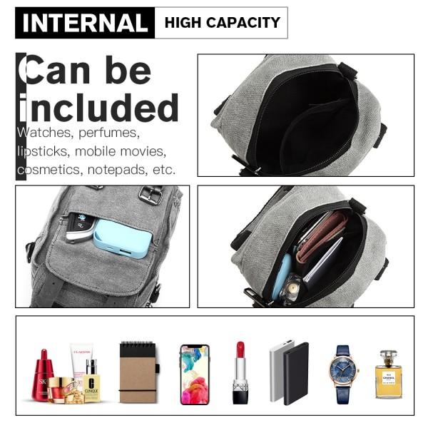 E6929 - Kono Mini Multi-Way Cross Body Bag/Backpack - Grey