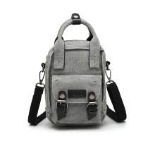E6929 - Kono Mini Multi-Way Geantă transversală /Rucsac - Gri
