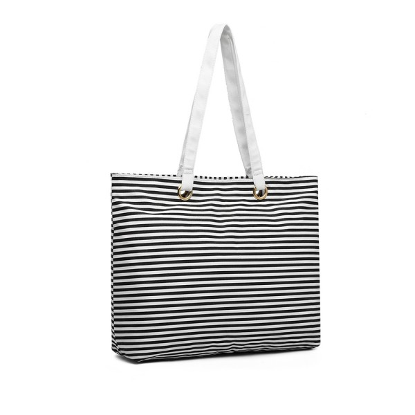 EB2002 - Kono Stripe Canvas Tote Bag - Black