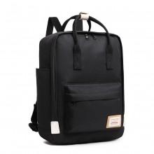 EB2017 - Kono Large Polyester Laptop Backpack - Black