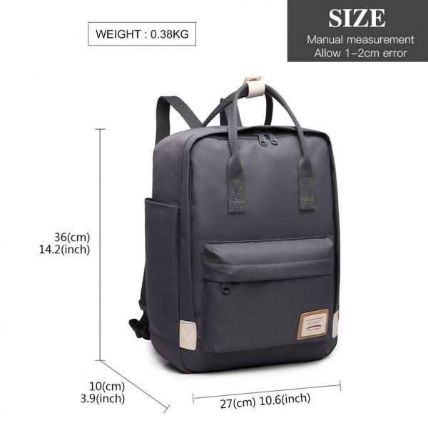 EB2017 - Kono Large Polyester Laptop Backpack - Grey