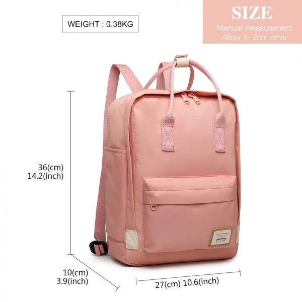 EB2017 - Kono Large Polyester Laptop Backpack - Pink