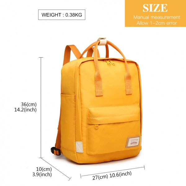 EB2017 - Kono Large Polyester Laptop Backpack - Yellow