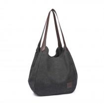 EB2040 - Kono Płócienna torba na ramię - czarna