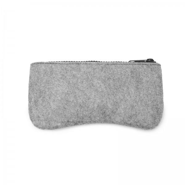 EB2065 - Soft Felt Glasses Case - Grey And Black