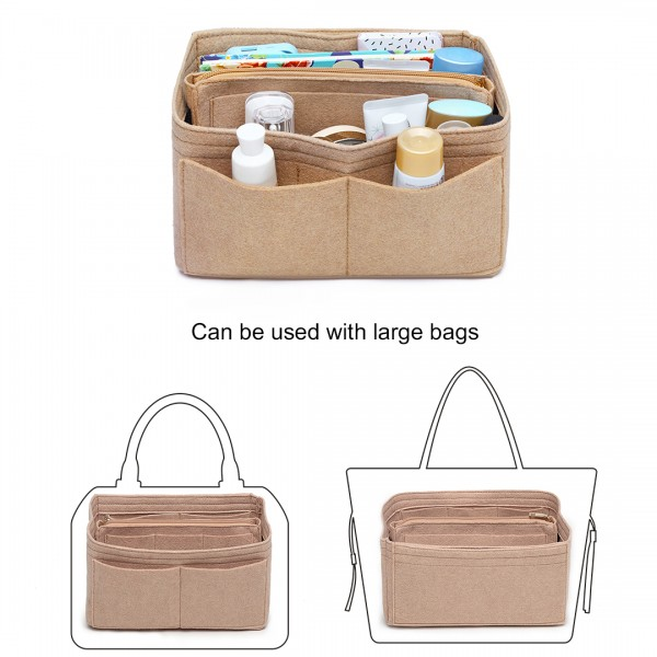 EB6932 - Kono Multi Compartment Handbag Organiser - Khaki
